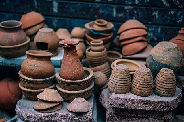 Ancient pottery pots