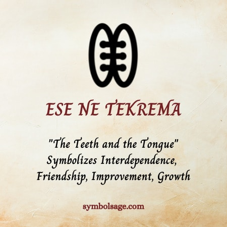 Ese ne Tekrema symbolism