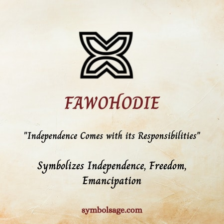 fawohodie symbol meaning