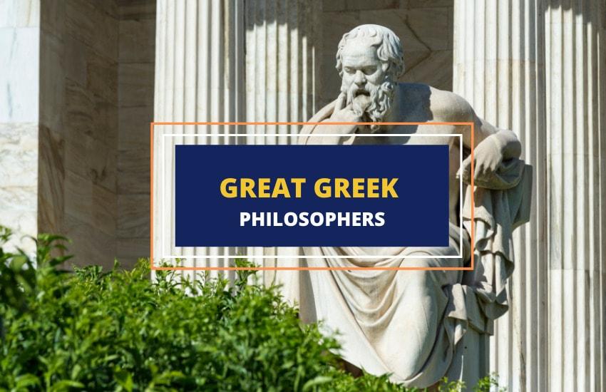 Great Greek philosophers list