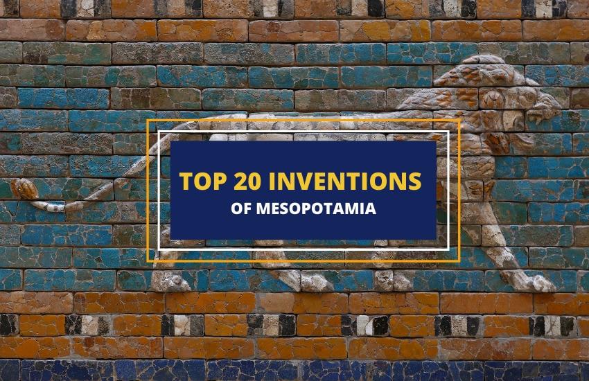 Inventions of Mesopotamia list