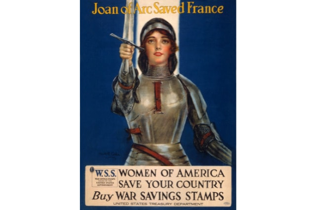 Joan of arc poster America wartime