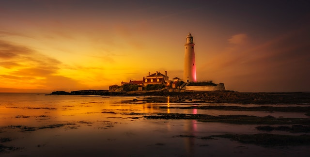 lighthouse near the seashore