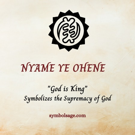 Nyame ye ohene symbol meaning