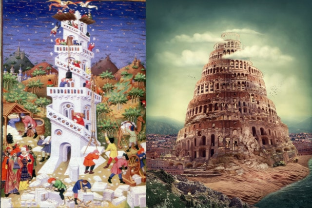 Tower of babel illustrations
