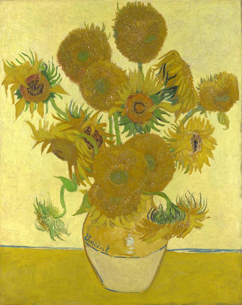 Sunflowers by Vincent van Gogh.