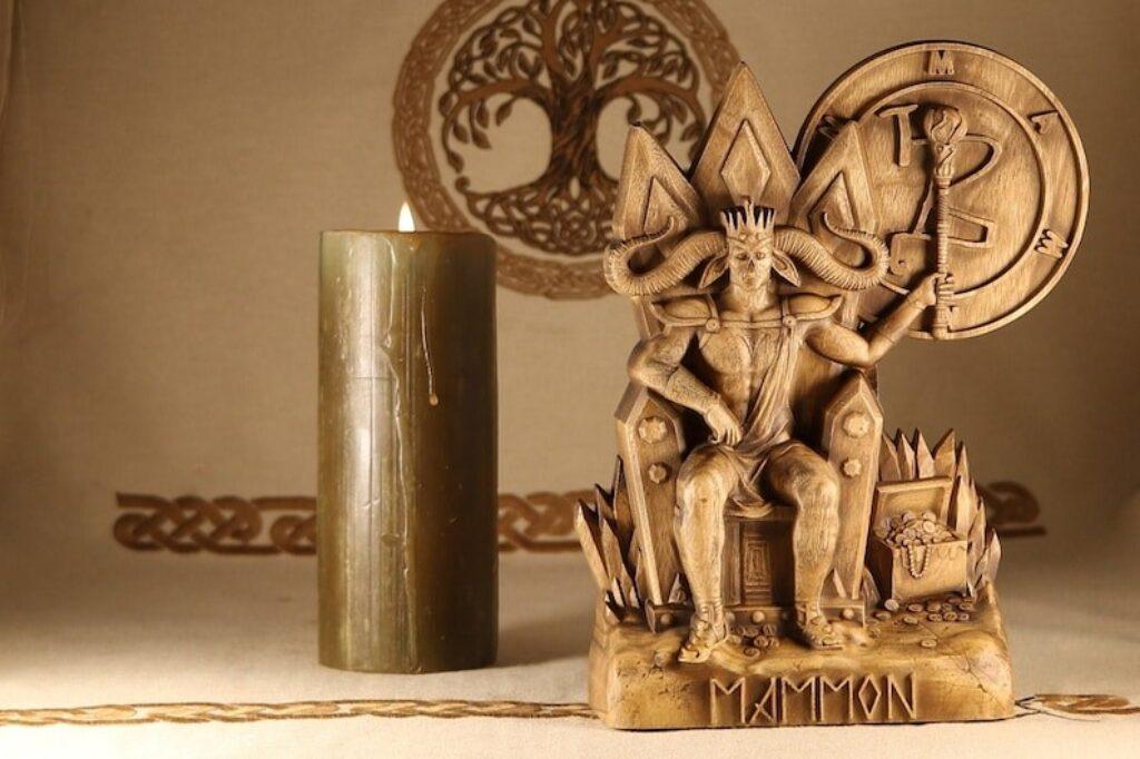 Mammon statue