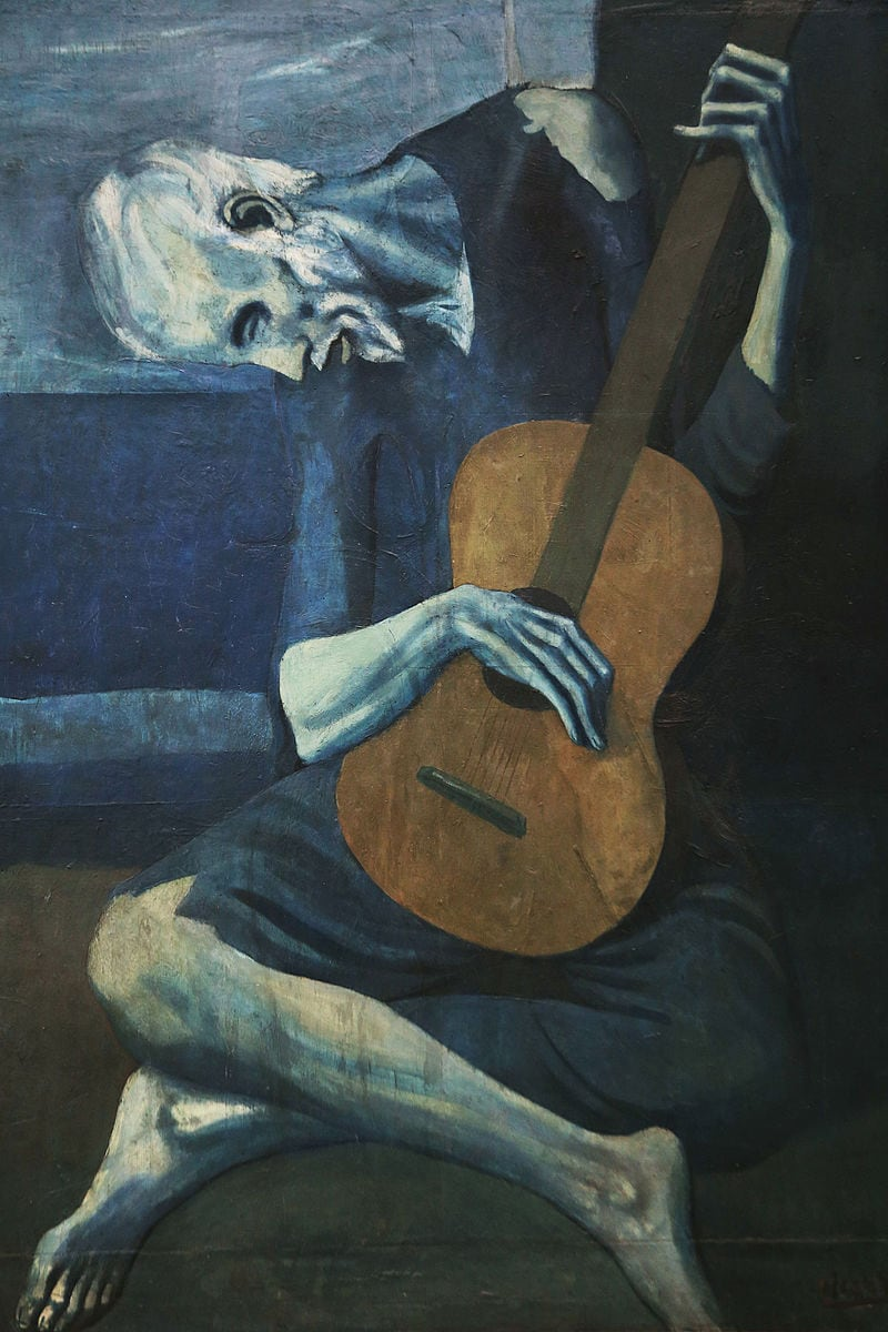 Old guitarist Picasso