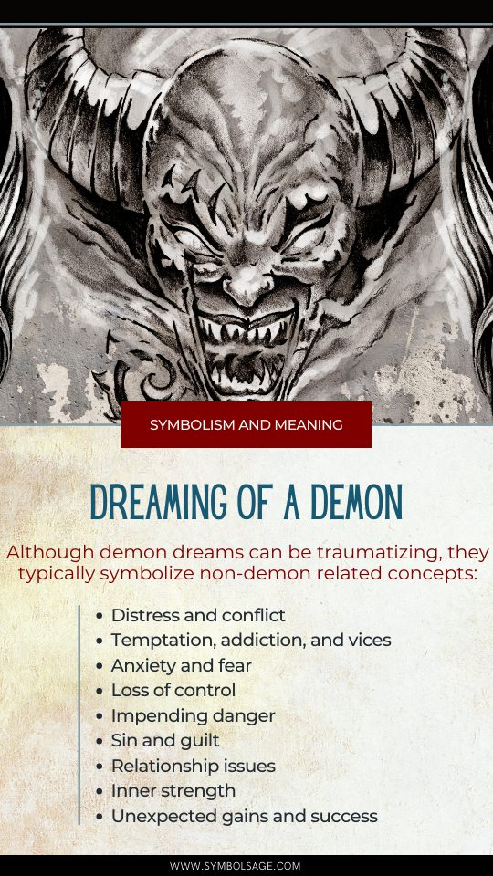 Demon dream symbolism and meaning