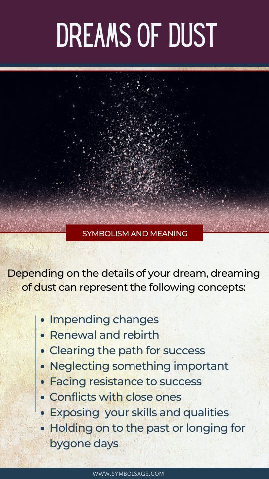 Dreaming of dust meaning