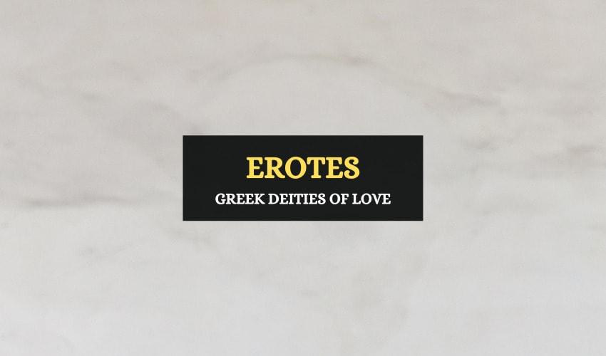 Erotes Greek deities of love