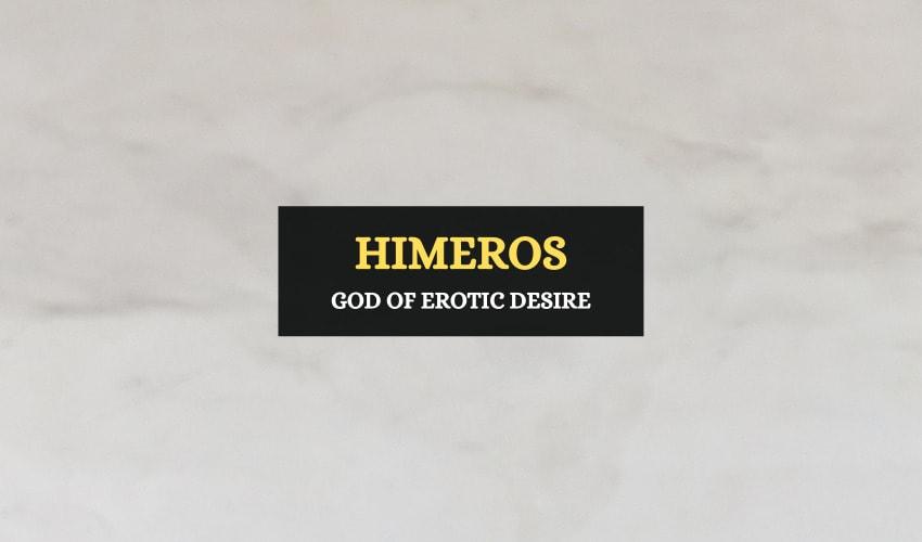Himeros Greek god of desire
