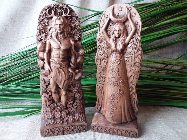 Horned god moon goddess