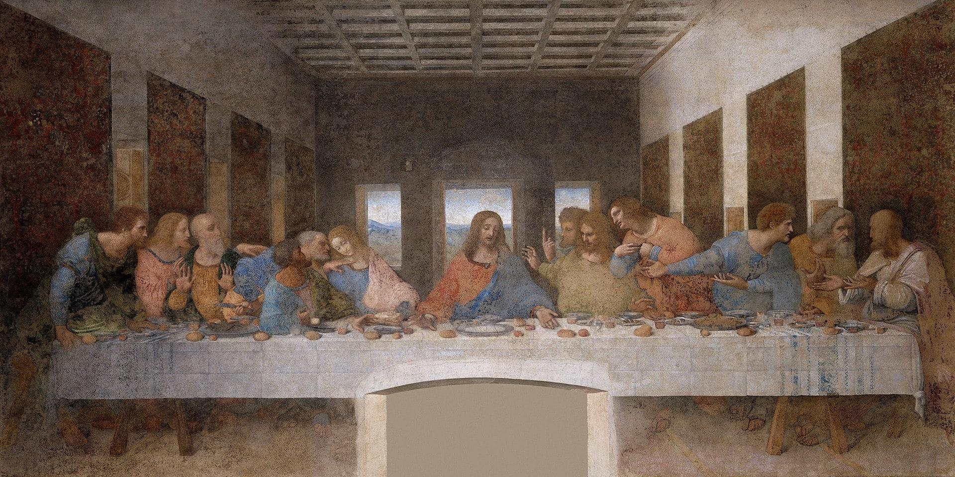 Last Supper by Leonardo da Vinci. PD.