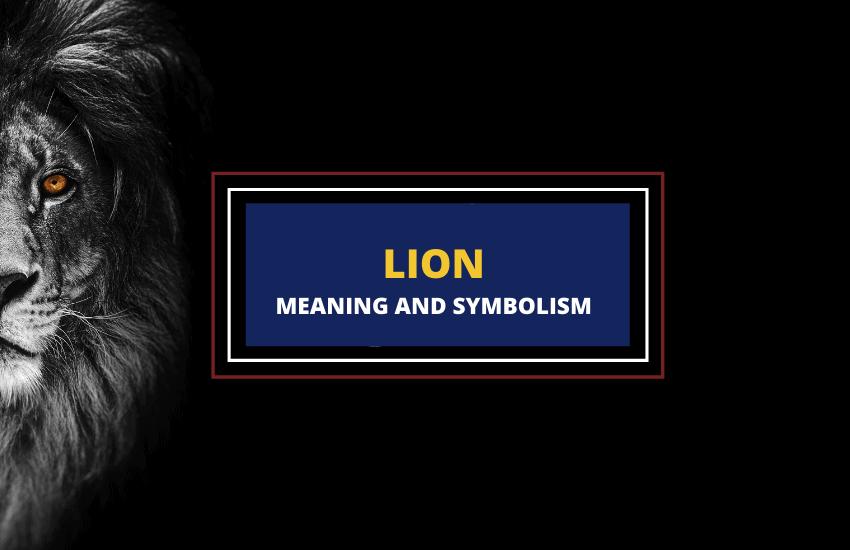 Lion symbolism meaning