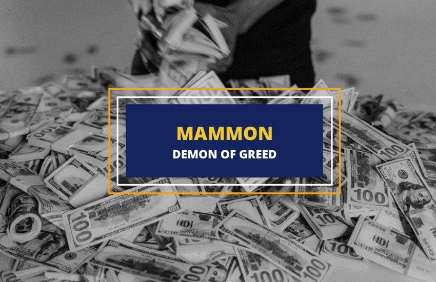 Mammon demon of greed