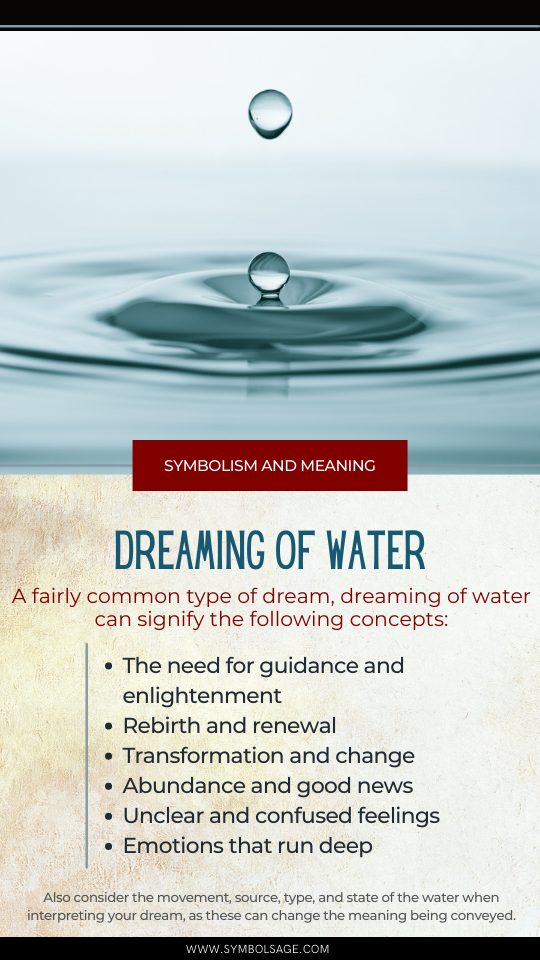 Meaning of water dreams