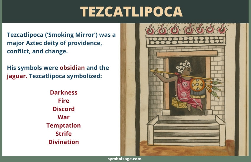 Tezcatlipoca (smoking mirror) god symbol