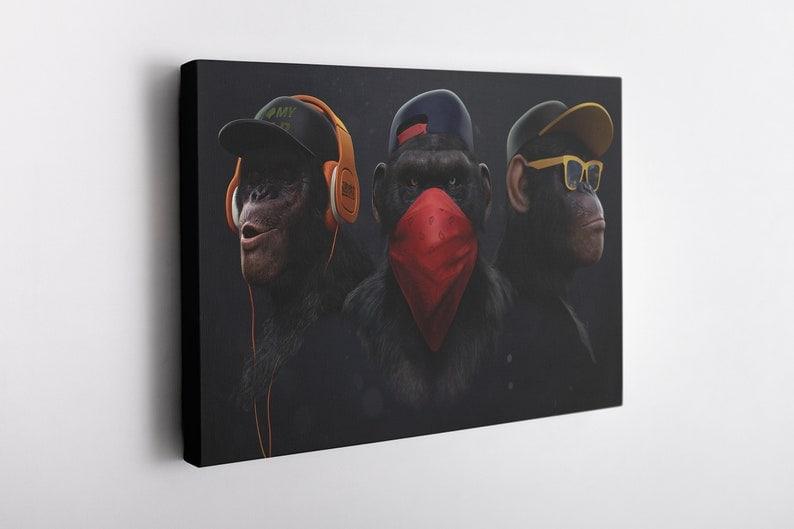 Three monkeys poster