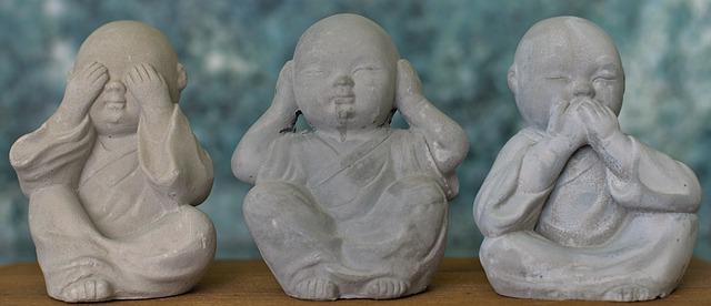 Three wise monkeys Buddhist