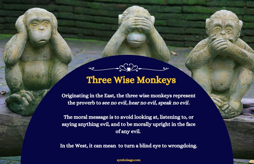 Three wise monkeys meaning