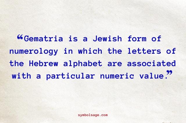 What is gematria