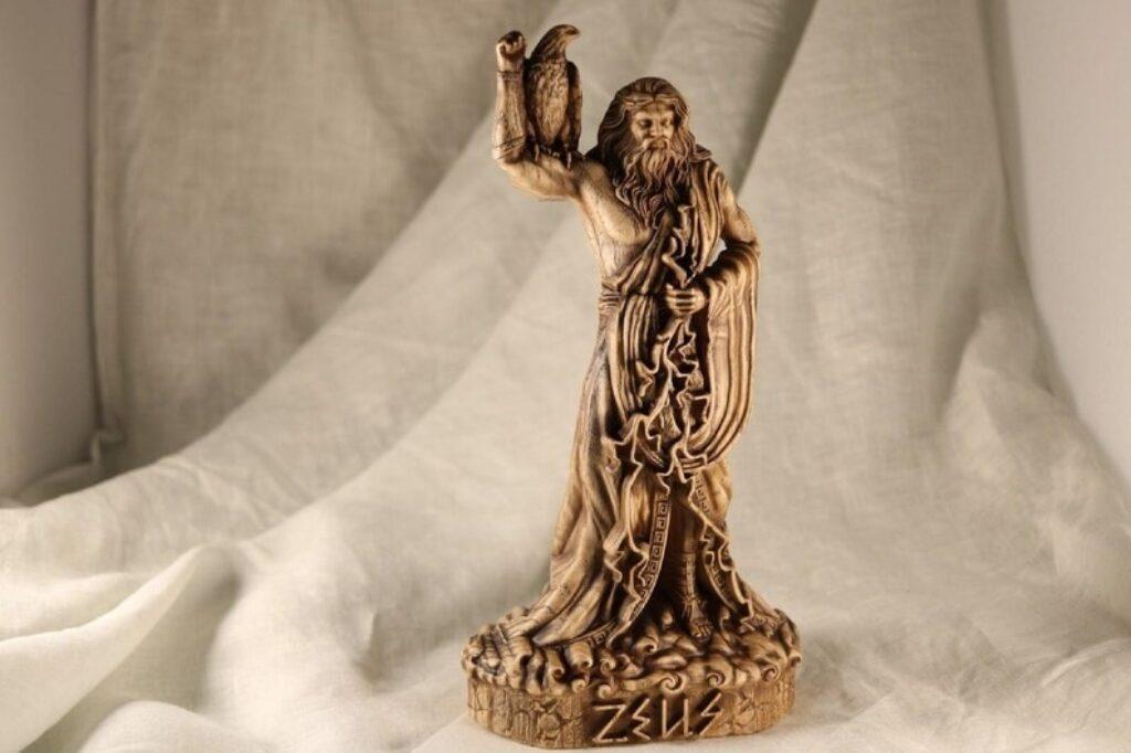 Zeus god statue