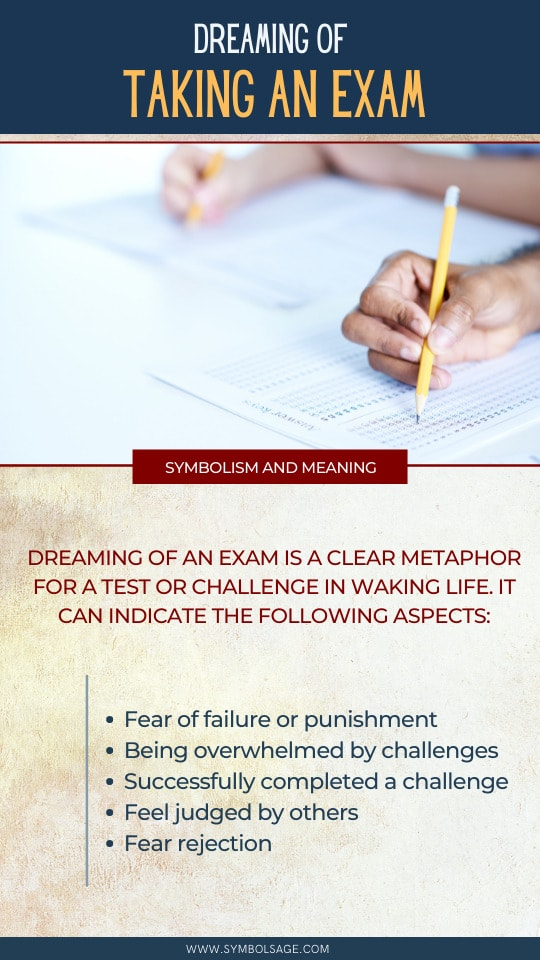 Taking an exam dream meaning