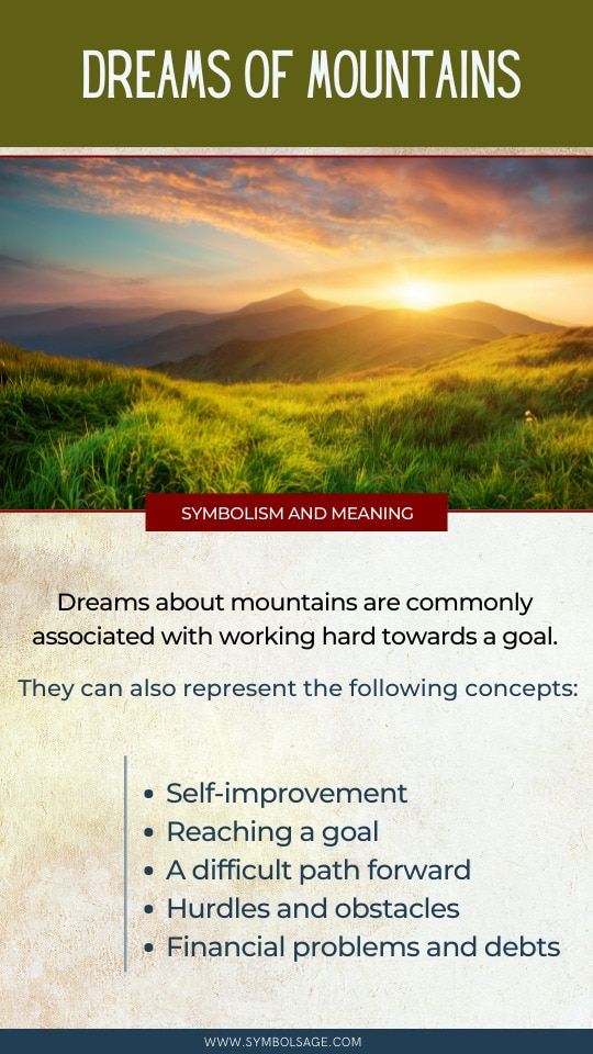 Dreams of mountains meaning