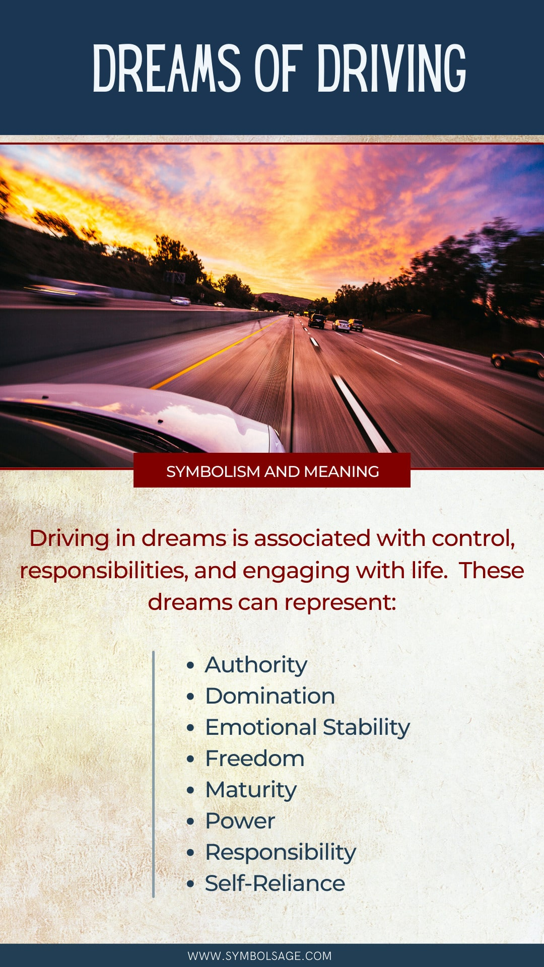 Driving a car dream meaning