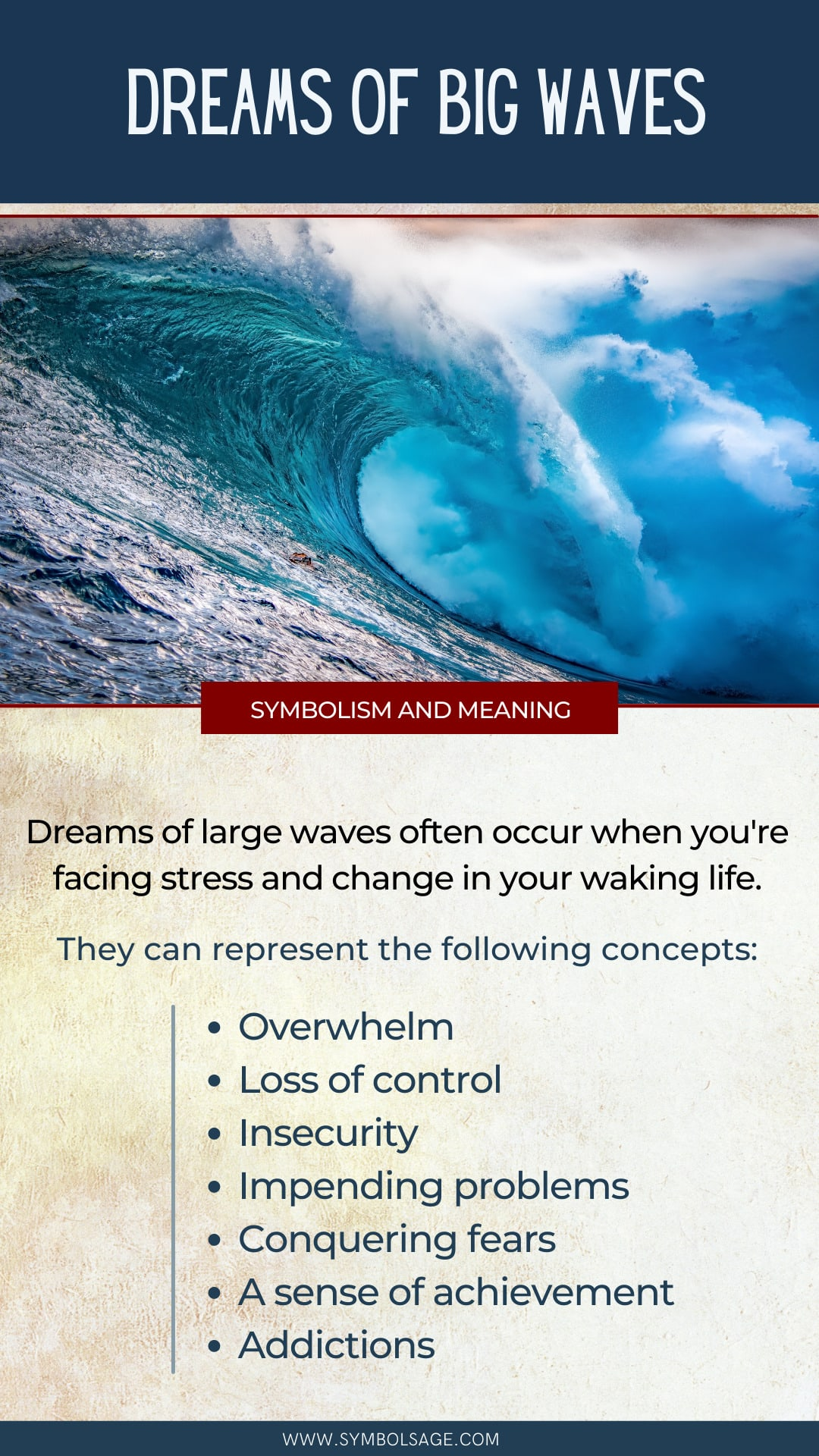 Big waves dream meaning