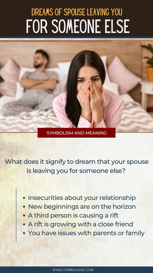 dream of your spouse leaving you meaning